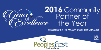 Image: Gems of Excellence logo, Image text reads '2016 Community Partner of the Year'